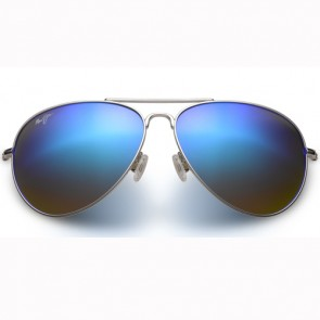Maui Jim Mavericks Sunglasses - Silver/Blue Hawaii