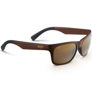 Maui Jim Kahi Sunglasses - Matte Brown Wood Grain/HCL Bronze