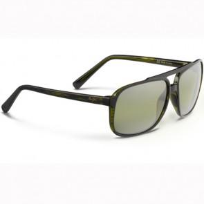 Maui Jim Silversword Sunglasses - Olive Stripe/Maui HT