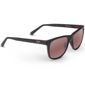 Maui Jim Tail Slide Sunglasses - Matte Black/Red/Maui Rose