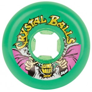 Santa Cruz Skateboards - 54mm Slime Balls Crystal Balls Wheels - Trans Green