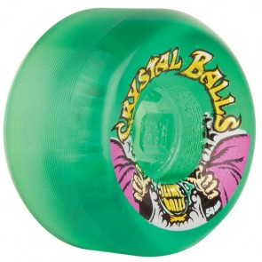 Santa Cruz Skateboards - 54mm Slime Balls Crystal Balls Wheels - Translucent Green