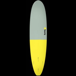 Torq Surfboards 8'0'' Torq Mini Longboard - Grey/Yellow