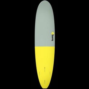 Torq Surfboards 8'0'' Torq Mini Longboard - Grey/Yellow