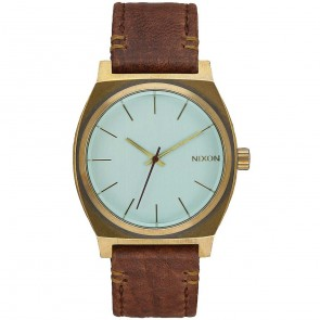 Nixon Time Teller Watch - Brass/Green Crystal/Brown
