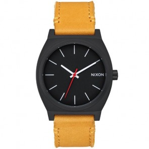 Nixon Time Teller Watch - All Black/Goldenrod
