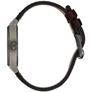 Nixon Time Teller Watch - Gunmetal/Silver/Dark Brown