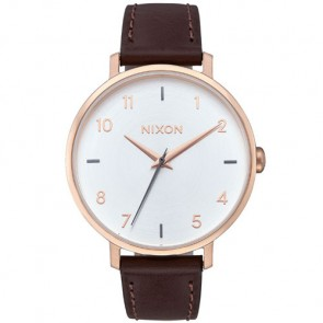 Nixon Women's Arrow Leather Watch - Rose Gold/Silver