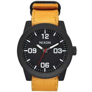 Nixon Corporal Watch - All Black/Goldenrod