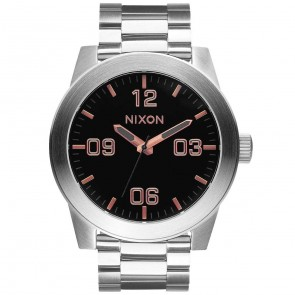 Nixon Corporal SS Watch - Grey/Rose Gold