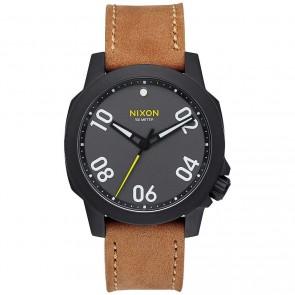 Nixon Watches The Ranger 40 Leather - Black/Gunmetal/Natural