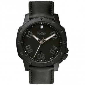 Nixon Ranger Leather Watch - All Black