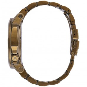 Nixon Ranger 45 Watch - All Brass/Green Crystal
