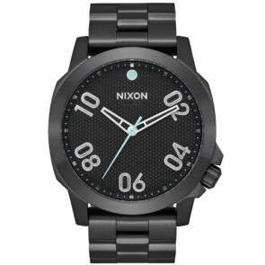 Nixon Ranger 45 Watch - All Black/Blue