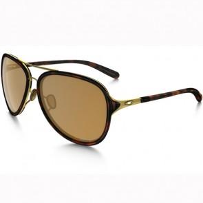 Oakley Women's Kick Back Polarized Sunglasses - Gold Satin/Bronze