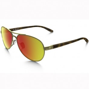 Oakley Women's Tie Breaker Pop Polar Polarized Sunglasses - Polished Gold/Ruby Iridium