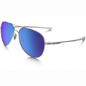 Oakley Elmont Polarized Sunglasses - Satin Chrome/Sapphire Iridium
