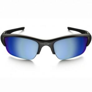 Oakley Flak Jacket XLJ Polarized Sunglasses - Polished Black/Prizm Deep Water