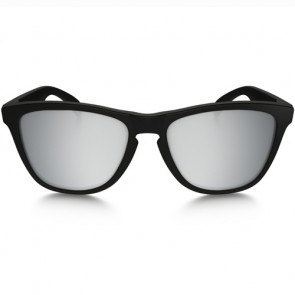 Oakley Frogskins Machinist Sunglasses - Matte Black/Chrome Iridium