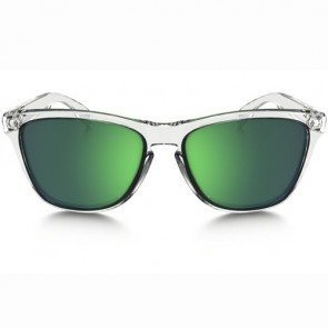 Oakley Frogskins Crystal Sunglasses - Polished Clear/Jade Iridium