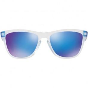 Oakley Frogskins Colorblock Sunglasses - Matte Clear/Sapphire Iridium