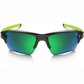 Oakley Flak 2.0 XL Polarized Sunglasses - Black Ink/Jade Iridium
