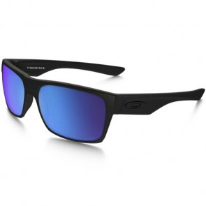 Oakley Twoface Polarized Sunglasses - Matte Black/Sapphire Iridium