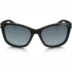 Oakley Women's Drop In Polarized Sunglasses - Polished Black/Grey Gradient