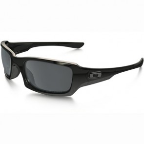 Oakley Fives Squared Polarized Sunglasses - Polished Black/Black Iridium