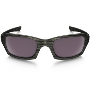 Oakley Fives Squared Polarized Sunglasses - Woodgrain/Prizm Daily