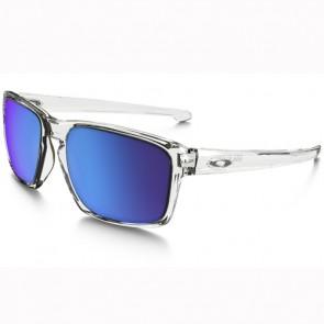Oakley Sliver Sunglasses - Polished Clear/Sapphire Iridium