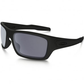Oakley Turbine Polarized Sunglasses - Matte Black/Grey