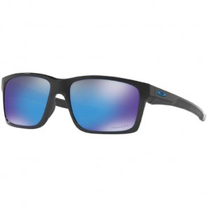 Oakley Mainlink Prizm Polarized Sunglasses - Polished Black/Sapphire Iridium