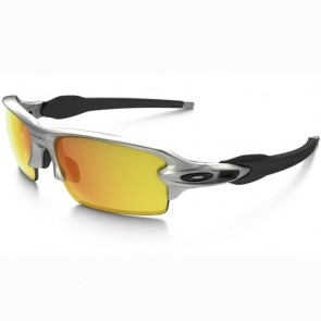 Oakley Flak 2.0 Sunglasses - Silver/Fire Iridium