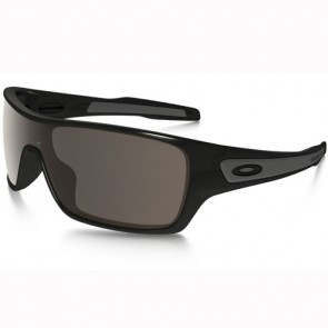 Oakley Turbine Rotor Polarized Sunglasses - Polished Black/Warm Grey