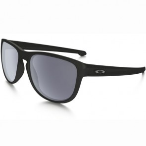 Oakley Sliver Round Sunglasses - Matte Black/Grey