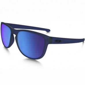 Oakley Sliver Round Sunglasses - Matte Crystal Blue/Sapphire Iridium