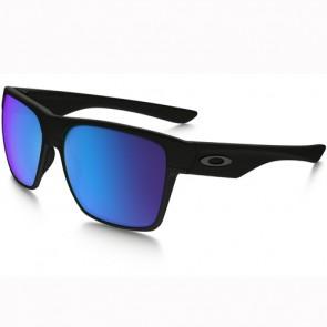 Oakley Twoface XL Polarized Sunglasses - Matte Black/Sapphire Iridium