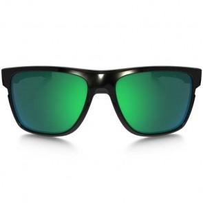 Oakley Crossrange XL Sunglasses - Polished Black/Jade Iridium