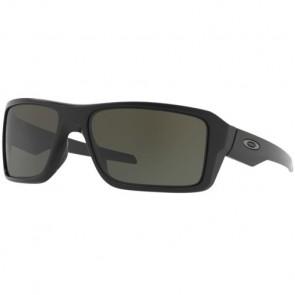 Oakley Double Edge Sunglasses - Matte Black/Dark Grey