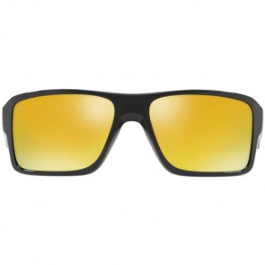 Oakley Double Edge Sunglasses - Polished Black/24K Iridium