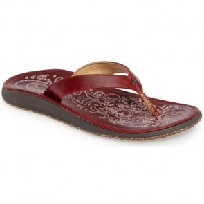 Olukai Women's Paniolo Sandals - Ohio Red
