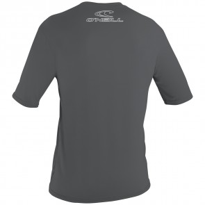 O'Neill Wetsuits Basic Skins Rash Tee - Smoke