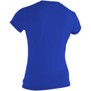O'Neill Wetsuits Women's Basic Skins Rash Tee - Tahitian Blue