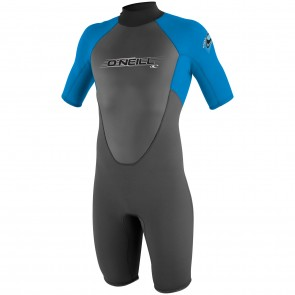 O'Neill Youth Reactor Spring Wetsuit - Graphite/Bright Blue