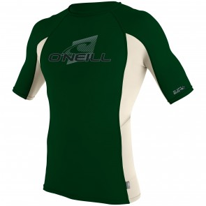 O'Neill Wetsuits Skins Short Sleeve Crew Rash Guard - Combat/Shell
