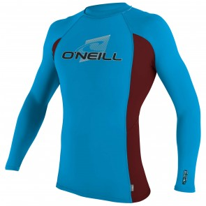 O'Neill Skins Long Sleeve Crew Rash Guard - Sky/Myers