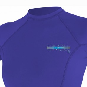 O'Neill Wetsuits Women's Skins Short Sleeve Crew Rash Guard - Cobalt