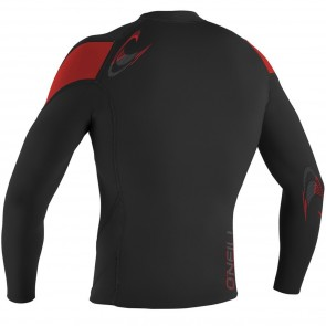 O'Neill Hammer 1.5/1mm Long Sleeve Crew - Black/Red