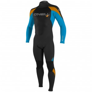 O'Neill Youth Epic 4/3 Wetsuit - Black/Sky/Blaze